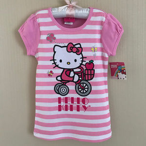 Hello Kitty Pink Short Sleeve Tee Top Girl Clothes